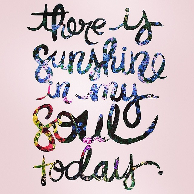 Let the Sunshine...